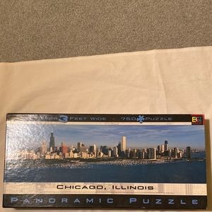 Panoramic Chicago Skyline Puzzle, 750 pieces.